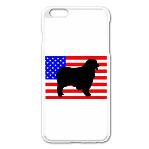 Australian Shepherd Silo Usa Flag Apple iPhone 6 Plus/6S Plus Enamel White Case