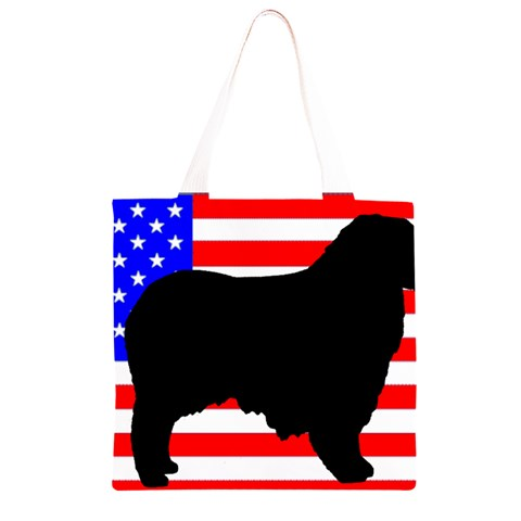 Australian Shepherd Silo Usa Flag Grocery Light Tote Bag
