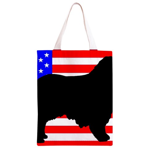 Australian Shepherd Silo Usa Flag Classic Light Tote Bag