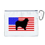 Australian Shepherd Silo Usa Flag Canvas Cosmetic Bag (XL) Back