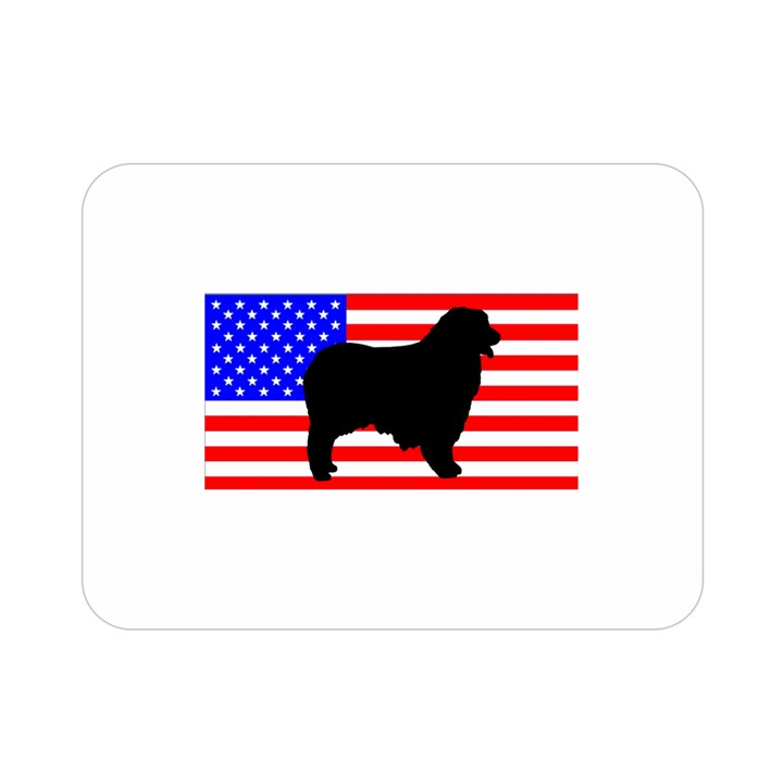 Australian Shepherd Silo Usa Flag Double Sided Flano Blanket (Mini)