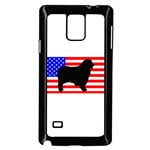 Australian Shepherd Silo Usa Flag Samsung Galaxy Note 4 Case (Black) Front