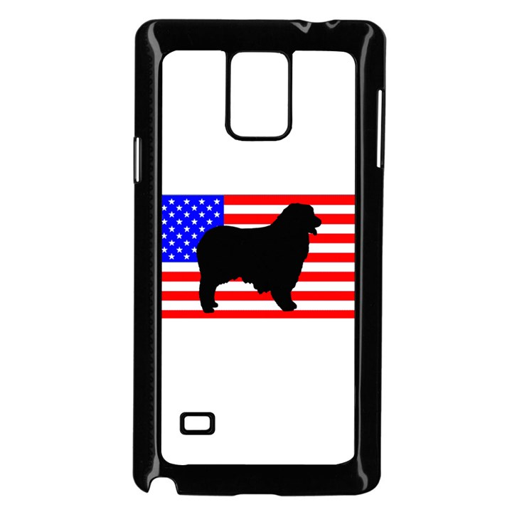 Australian Shepherd Silo Usa Flag Samsung Galaxy Note 4 Case (Black)