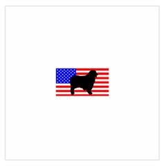 Australian Shepherd Silo Usa Flag Large Satin Scarf (Square)