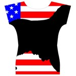 Australian Shepherd Silo Usa Flag Women s V-Neck Cap Sleeve Top Back