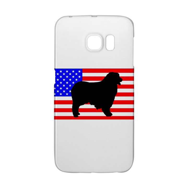 Australian Shepherd Silo Usa Flag Galaxy S6 Edge