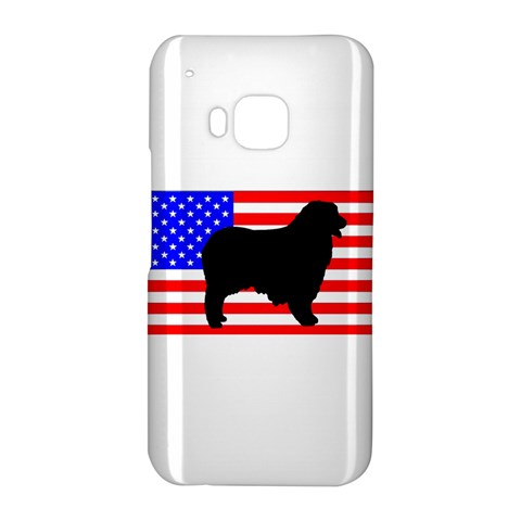 Australian Shepherd Silo Usa Flag HTC One M9 Hardshell Case