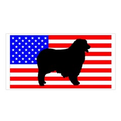 Australian Shepherd Silo Usa Flag Satin Shawl