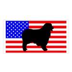 Australian Shepherd Silo Usa Flag Satin Shawl Front