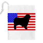 Australian Shepherd Silo Usa Flag Drawstring Pouches (XXL) Back