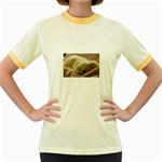 Maltese Sleeping Women s Fitted Ringer T-Shirts Front