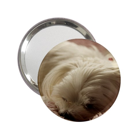 Maltese Sleeping 2.25  Handbag Mirrors