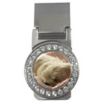 Maltese Sleeping Money Clips (CZ)  Front