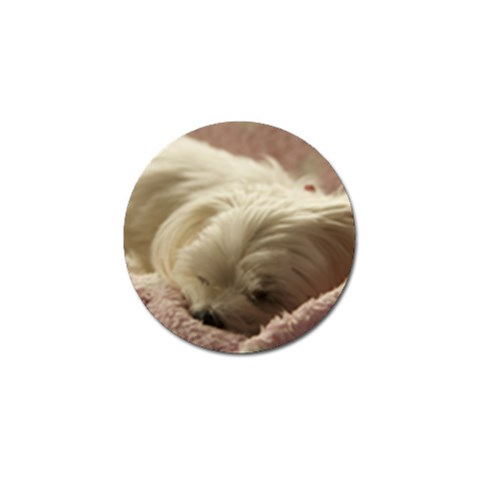Maltese Sleeping Golf Ball Marker