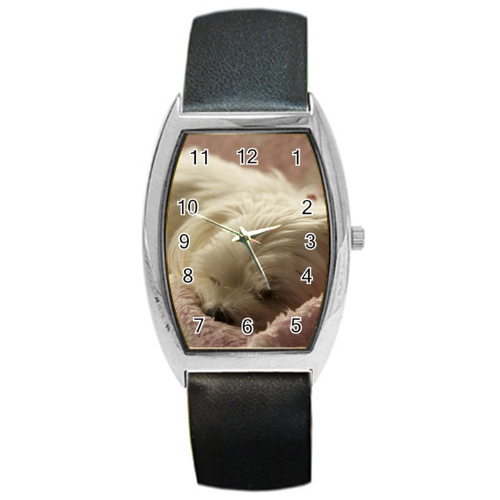 Maltese Sleeping Barrel Style Metal Watch