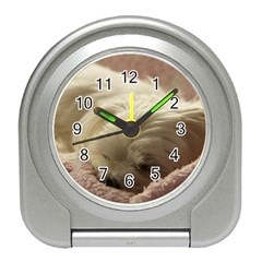 Maltese Sleeping Travel Alarm Clocks