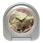 Maltese Sleeping Travel Alarm Clocks Front