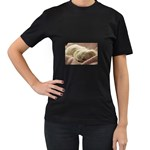 Maltese Sleeping Women s T-Shirt (Black) (Two Sided) Front
