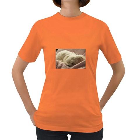 Maltese Sleeping Women s Dark T-Shirt