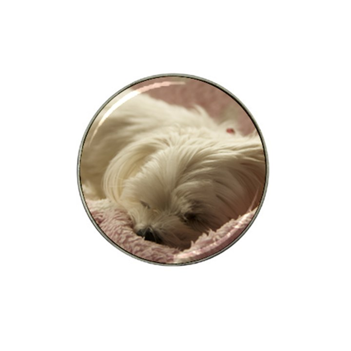 Maltese Sleeping Hat Clip Ball Marker