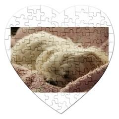 Maltese Sleeping Jigsaw Puzzle (Heart)