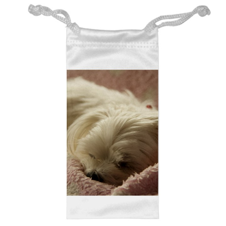 Maltese Sleeping Jewelry Bags