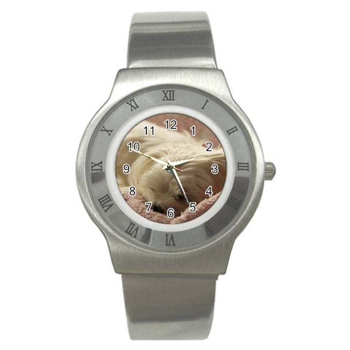Maltese Sleeping Stainless Steel Watch
