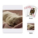 Maltese Sleeping Playing Card Back