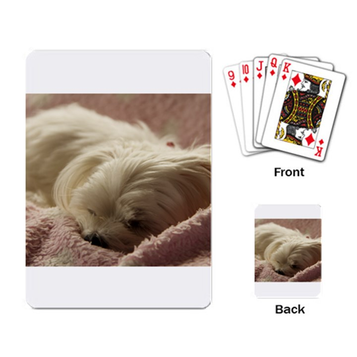 Maltese Sleeping Playing Card