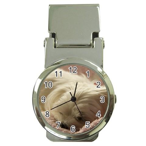 Maltese Sleeping Money Clip Watches