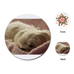 Maltese Sleeping Playing Cards (Round)  Front