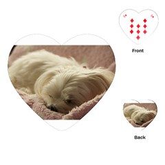 Maltese Sleeping Playing Cards (Heart)