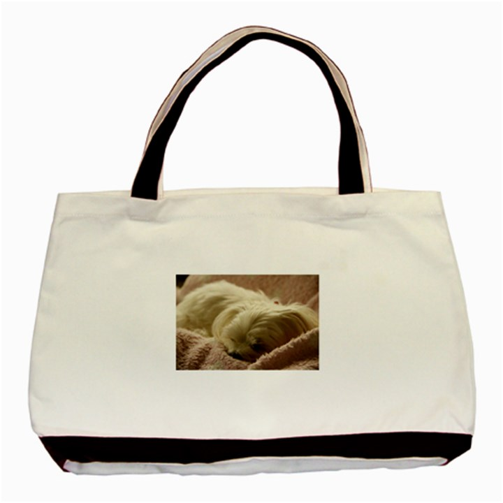 Maltese Sleeping Basic Tote Bag