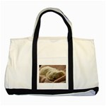 Maltese Sleeping Two Tone Tote Bag Front