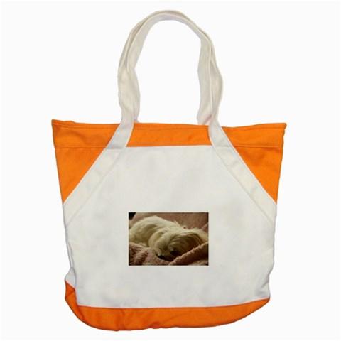 Maltese Sleeping Accent Tote Bag