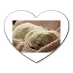 Maltese Sleeping Heart Mousepads Front