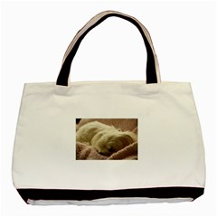 Maltese Sleeping Basic Tote Bag (Two Sides)