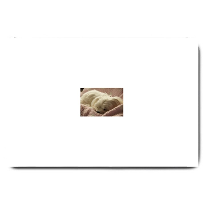 Maltese Sleeping Large Doormat