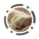 Maltese Sleeping Poker Chip Card Guards Back