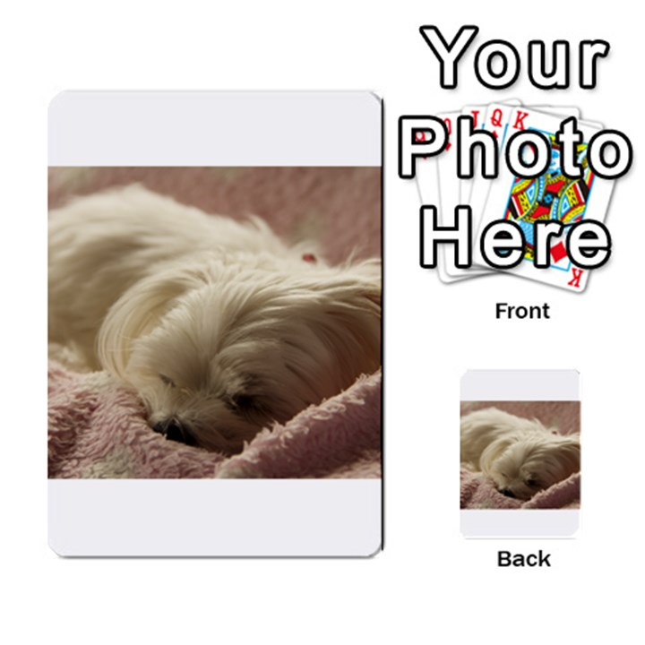 Maltese Sleeping Multi-purpose Cards (Rectangle)
