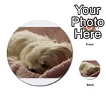 Maltese Sleeping Multi-purpose Cards (Round)  Front 45