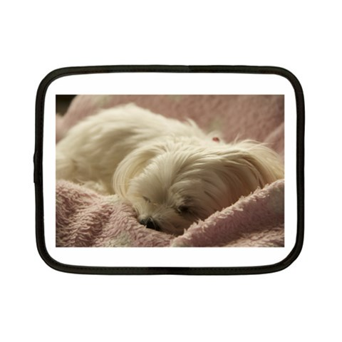 Maltese Sleeping Netbook Case (Small)