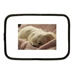 Maltese Sleeping Netbook Case (Medium)  Front