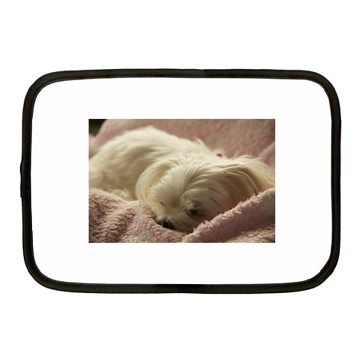 Maltese Sleeping Netbook Case (Medium)