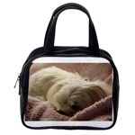 Maltese Sleeping Classic Handbags (One Side) Front