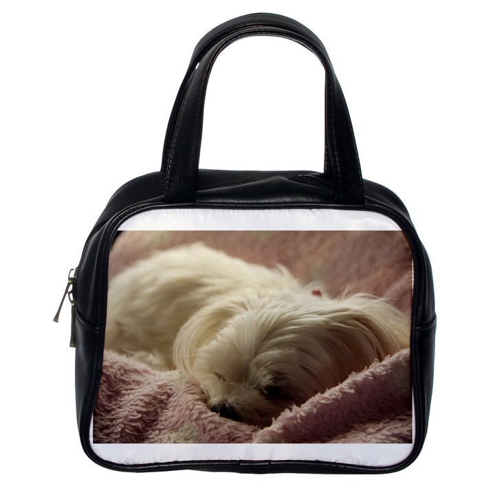 Maltese Sleeping Classic Handbags (One Side)