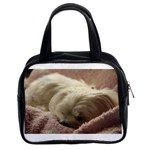 Maltese Sleeping Classic Handbags (2 Sides) Front