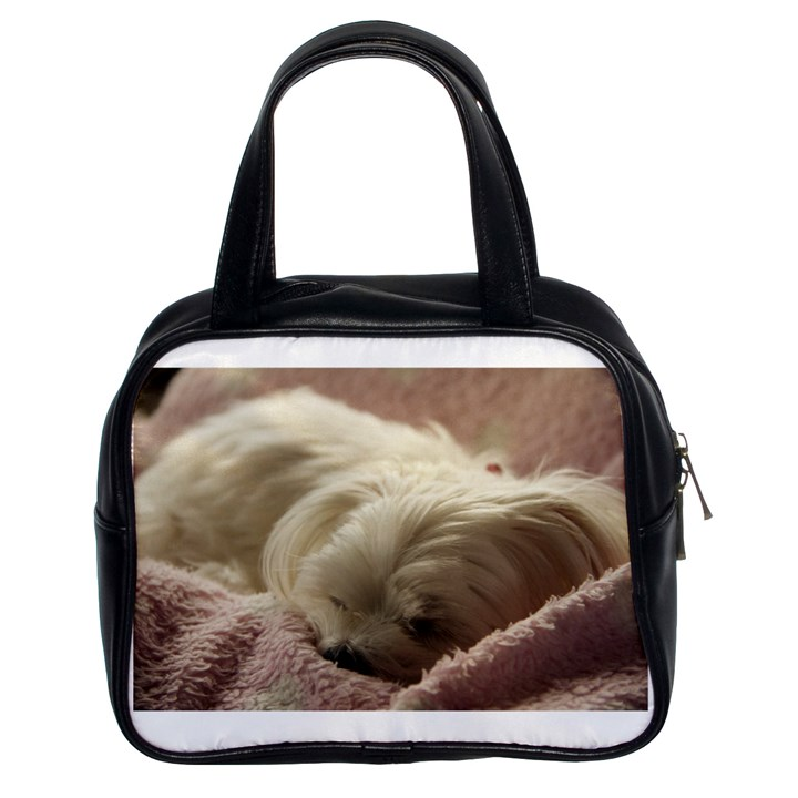 Maltese Sleeping Classic Handbags (2 Sides)