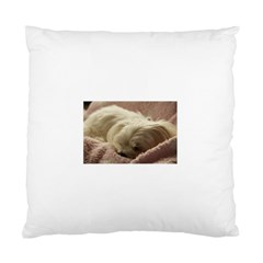 Maltese Sleeping Standard Cushion Case (Two Sides)