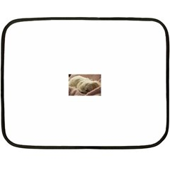 Maltese Sleeping Fleece Blanket (Mini)